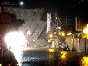 高雄規模6.4地震 震垮台南大樓