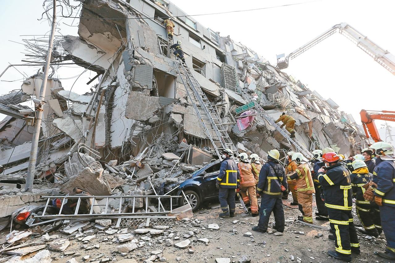 地震後的斷垣殘壁