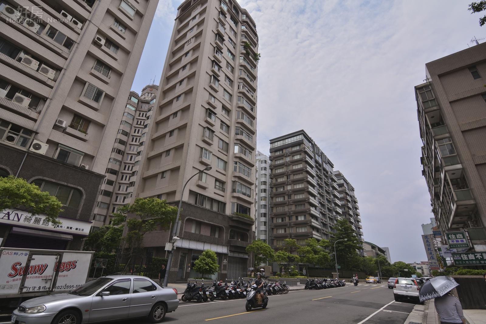 大直住宅區,街景,台北市中山區樂群二路,明水路。(好房news記者 陳韋帆/攝影)