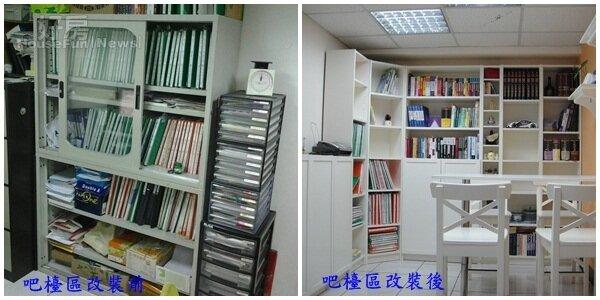 蔡志雄辦公室吧檯改裝前後