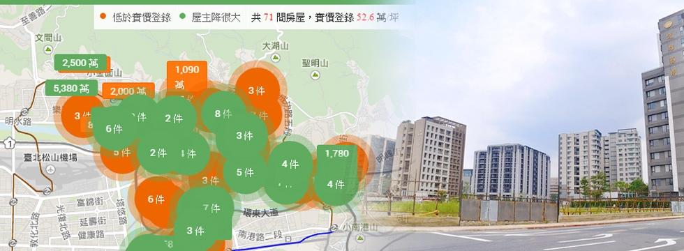 降價地圖 內湖(大刊頭)