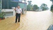 竹山暴雨 中山路一樓淹大水