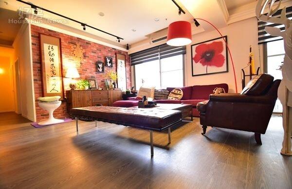 2.目前孟孟與親戚一起住在桃園,兩戶打通的80坪空間相當寬敞。