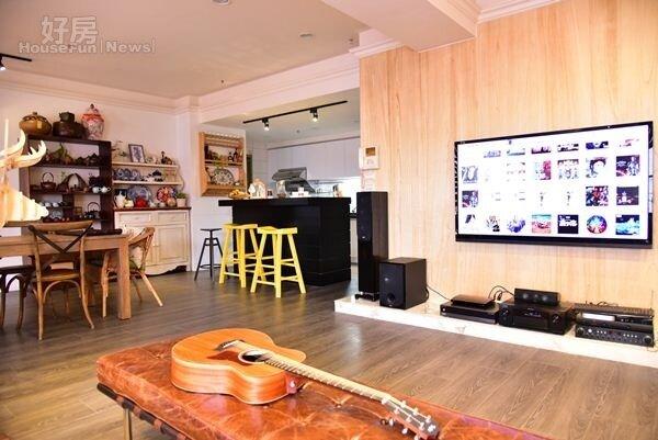 4.包括客廳、餐廳、廚房等皆採開放式設計,動線上毫無壓力、且還能保有室內採光性。