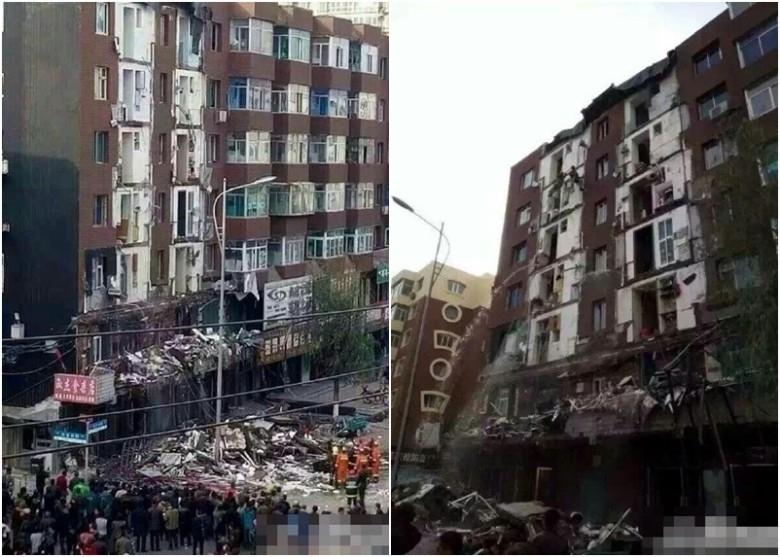 中國吉林省遼源市發生陽台崩塌意外,造成1死4傷,許多中國網友指出這應是「豆腐渣工程」。(翻攝自東網)