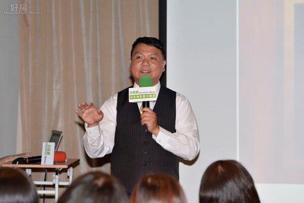 2015年10月份好房影響力講座,永慶資深經理陳俊宏指導聽眾如何買房。(好房網News記者 陳韋帆/攝影)