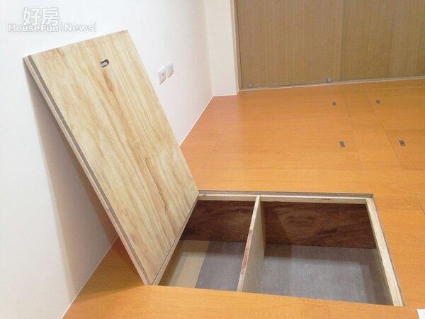 和室架高地板,置物櫃內未處理。(裝修消保會提供)