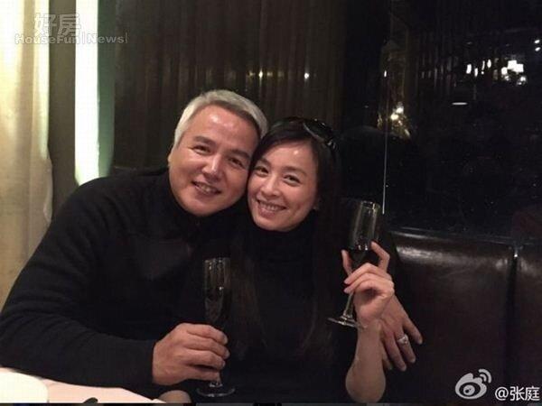 7林瑞陽、張庭夫婦移居中國上海多年,生活甜蜜美滿。(取自張庭微博)