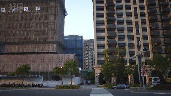 新莊副都心、頭前重劃區仍有大量建案興建中。(好房網News記者賈蓉/攝影)