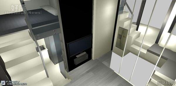 8.陳奎喜愛室內設計,還會自己畫3D設計圖,打造出「魔術空間」,讓房子賣出時都能賣在高點!