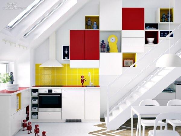 打破常規的系統櫃創意設計,讓消費者輕鬆打造夢想廚房。(IKEA提供)