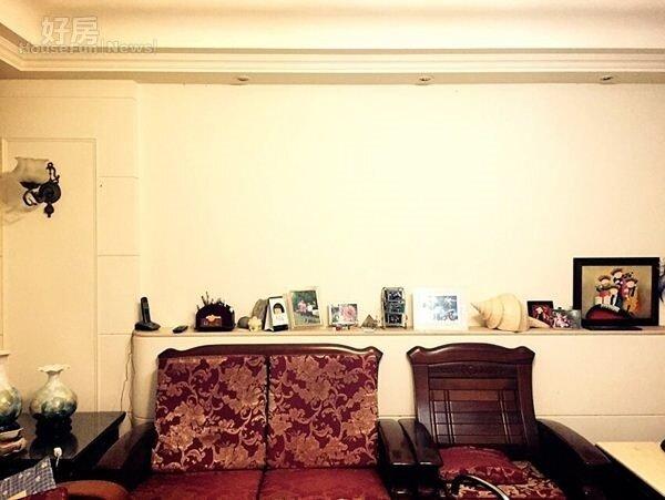 2.屋內走歐式復古風格,是前屋主留下的裝潢。