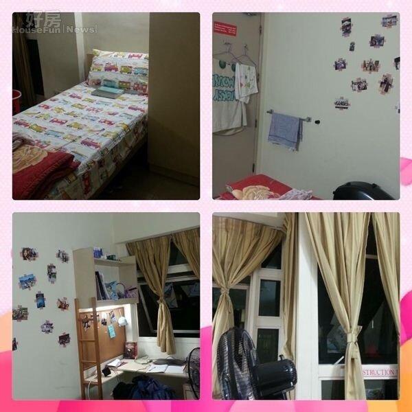 9.姿文在新加坡住的單人宿舍,簡單溫馨。
