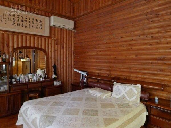6.李照禎的臥房像森林度假屋。