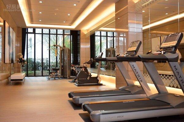 公設中的健身房。(好房網News記者 陳韋帆/攝影)