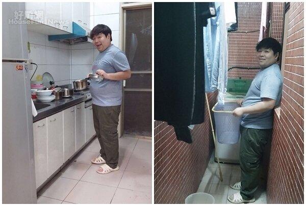 7.家中有個寬敞廚房,節儉的山豬有時也會在家中煮飯來吃! 8.還有個陽台可以曬衣服,相當方便。