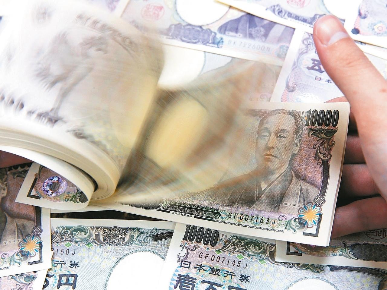 相較於新台幣匯率昨(25)日「連三貶」,日圓對美元持續攀升,日圓牌告價漲破0.28元,創下三個月新高。