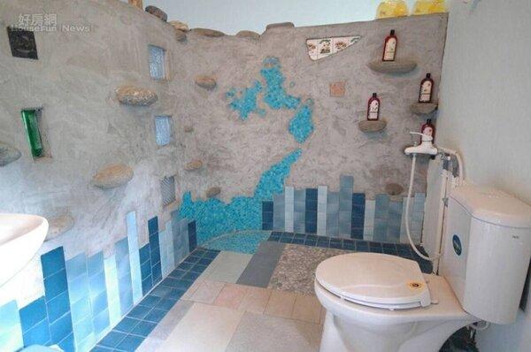 15.手工打造的衛浴設備也很有特色。