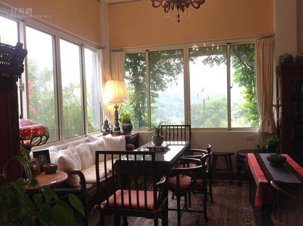 5.招待熟朋友喝茶談心的待客空間。