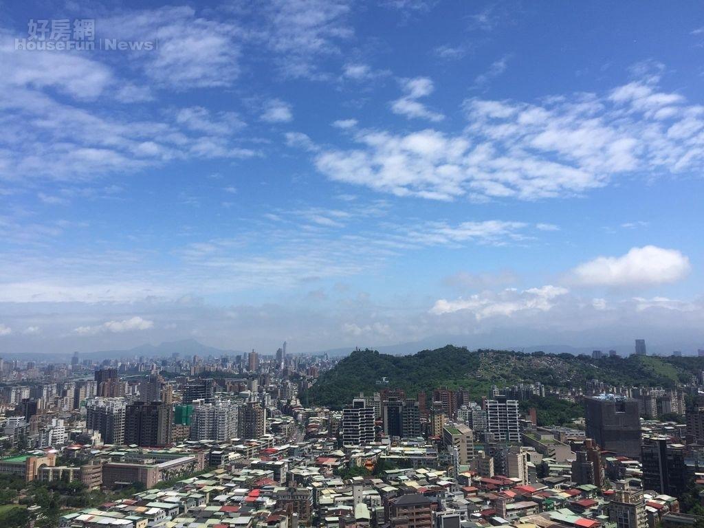 台北房市鳥瞰、俯瞰、高空情境圖。(好房網News記者張聖奕/攝影)
