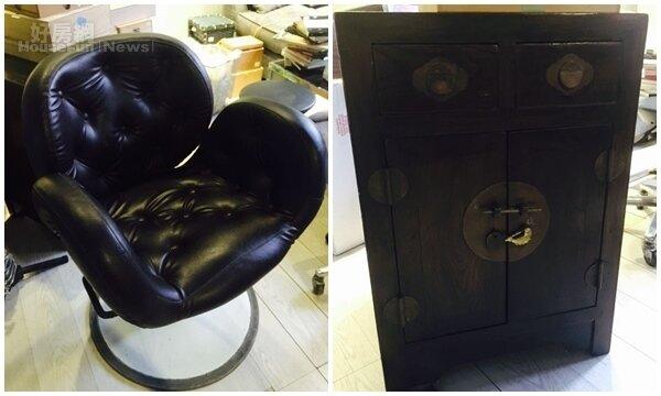 4.奧斯卡的辦公室有不少收藏家具,黑色椅子是別人割愛得來的,日本風的櫃子則從日本運來的。