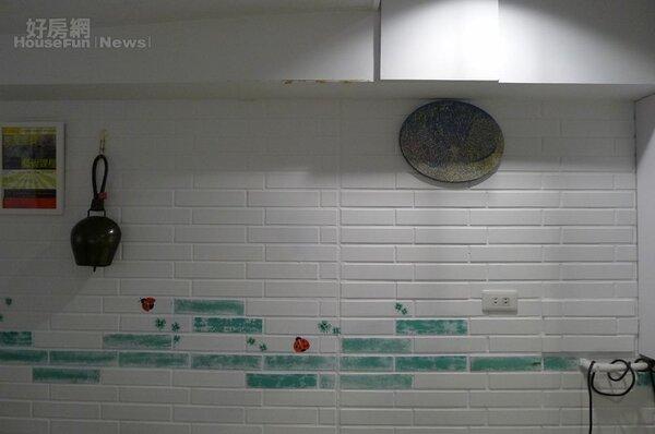 5.白漆磚牆頗有質感讓視線更明亮。