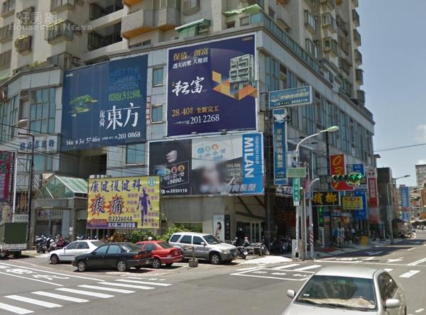 台南永康建案廣告。(翻攝自Google Map)
