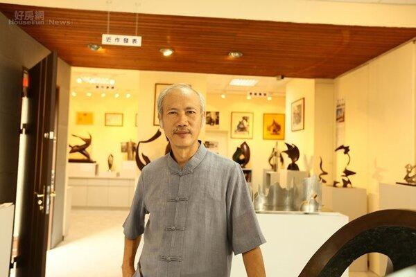1.雕塑大師謝棟樑作品豐富,陳設於他創立的「02雕塑空間」。