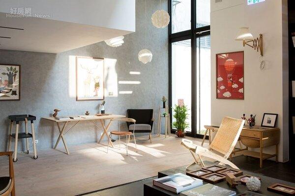7.展示空間相當挑高,洋溢丹麥居家氛圍。