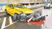 小黃打滑撞3機車 騎士1死2傷