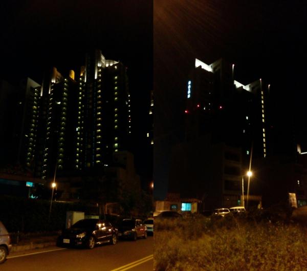 竹北空屋量驚人,夜晚只剩公設發光。(翻攝自PTT)