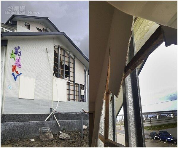 5.去年九月遭受颱風無情的摧殘,幾乎催毀了北館。