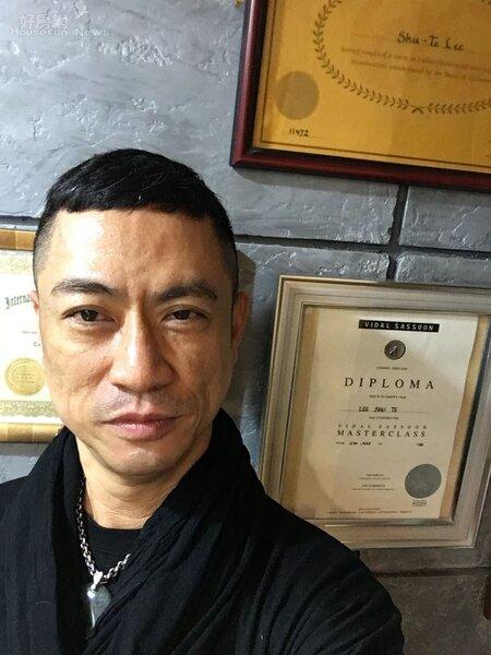 7.造型大師李樹德,擁有英國沙宣髮型藝術學院認證。
