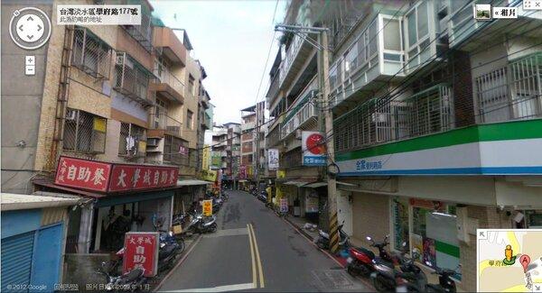 淡江大學附近生活機能較差,且離台北市區較遠,通勤時間較長,故多數學生會選擇在外租屋(圖/翻攝自Google Map)