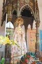 百日前遭火吻 萬金聖母像修復