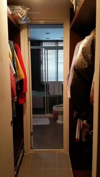 3.主臥室隔出一個更衣間,上通告挑衣服更方便快速。