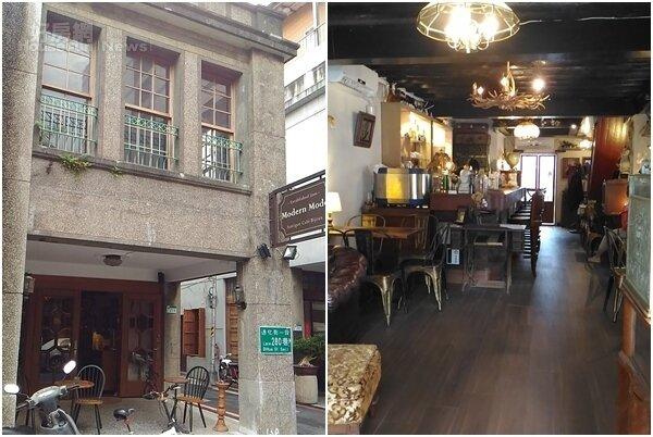 2.鍾瑤遷店到迪化街這棟臨街又三面採光的老洋樓。 3.老屋內的復古老件,是咖啡廳的特色之一。