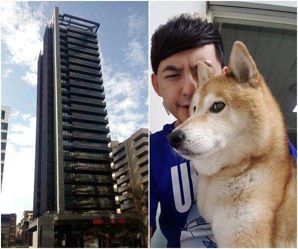 2.愛犬元氣已屆16歲高齡,相當惹人疼愛。(翻攝自黃子佼臉書) 3.「松江1號院」峻工後已躍升為中山區指標性豪宅。