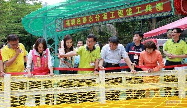 柯文哲出席文山區福興路排水分流工程完工典禮(台北市政府提供)
