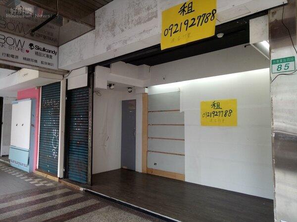 頂好名店城1樓店面招出。(好房網News記者蔡佩蓉攝影)