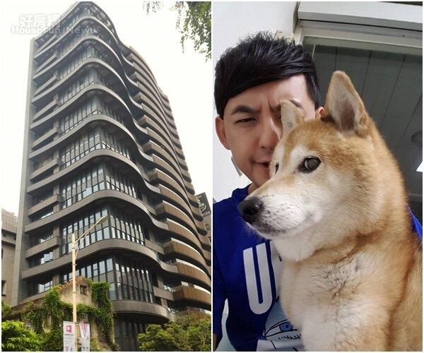 2.愛犬元氣已屆16歲高齡,相當惹人疼愛。(翻攝自黃子佼臉書)  4.流線型建築,「台北1號院」躍升為中山區指標豪宅。