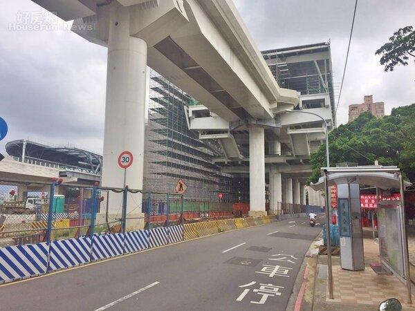 台中捷運綠線G4站與台鐵松竹站共構