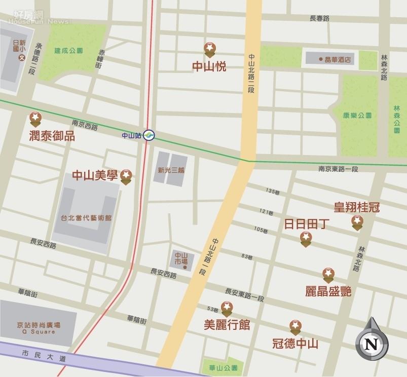 台北市 中山區/購物天堂鬧中有靜 新光南西生活圈