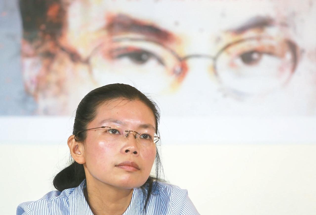 李太太李凈瑜昨天舉行「釋放李明哲」北京行前記者會。 (記者曾吉松/攝影)