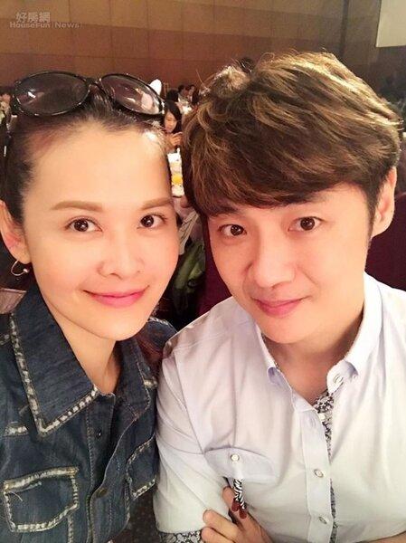 5.宋逸民(右)、陳維齡夫婦2003年初結婚曾住過南港。(翻攝自宋逸民和陳維齡的幸福生活臉書)