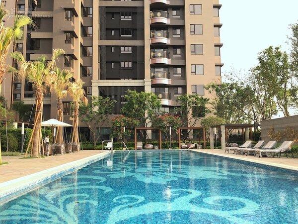 遠雄一品建案有規劃25米標準泳池。(好房資料中心)