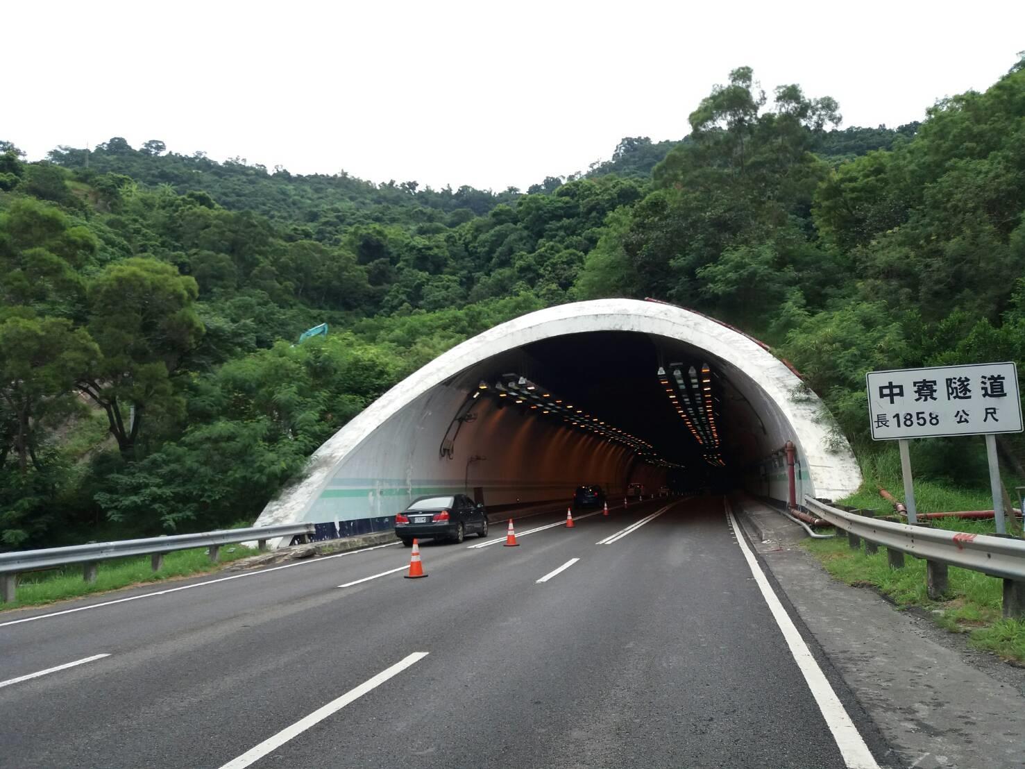 中寮隧道口。(高公局提供)