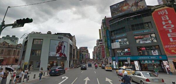 nike 以3年1.1億元趕走net(翻攝google map)