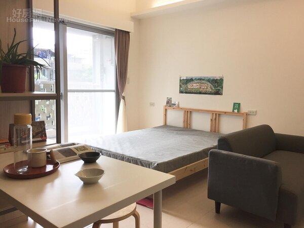 台北市松山區健康公宅,套房1房型(好房網News記者蔡孟穎/攝影)