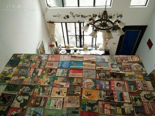 5.加蓋的屋頂平台鋪陳一大面罕見的雜誌、禁書。